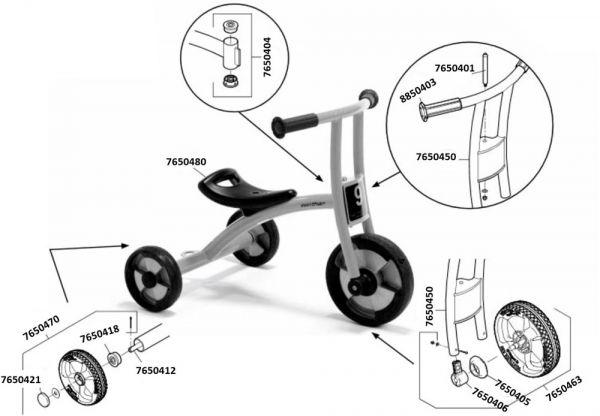 7500560 Ersatzteile für Jakobs Pushbike aktiv