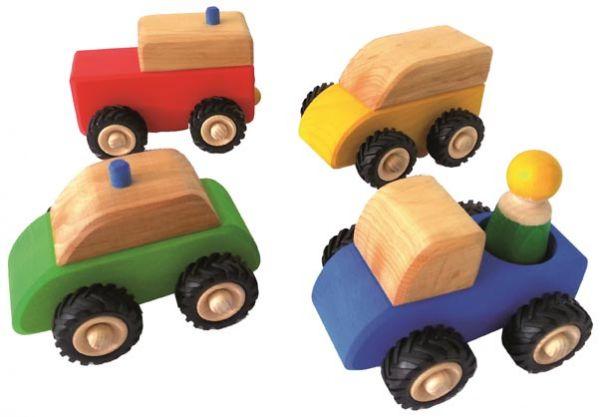 kleine Fahrzeuge 4tlg. Bauspiel