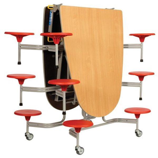 12er-Tisch-Sitz-Komb. oval Sico, 38,5cm Sitzhöhe