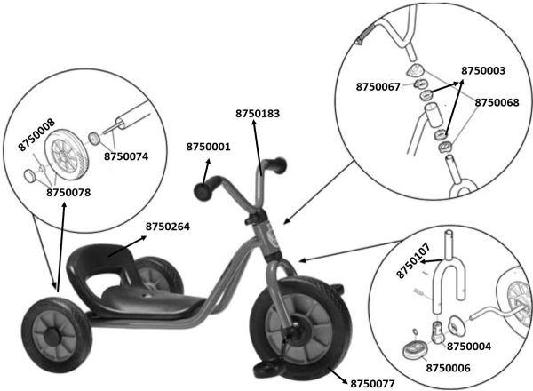 8600409 Ersatzteile für Winther Mini Easy Rider