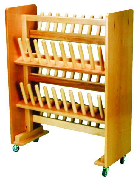 Stiefelwagen Holz 25 Paar