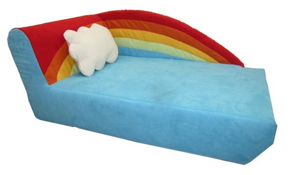 Kindersofa Regenbogen, incl. Kissen