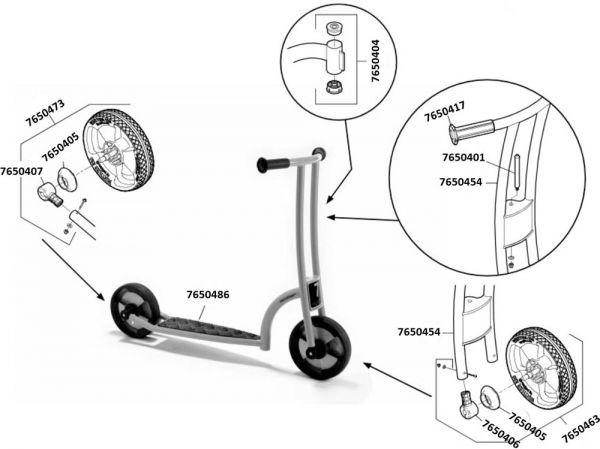 7500556 Ersatzteile für Jakobs Roller aktiv