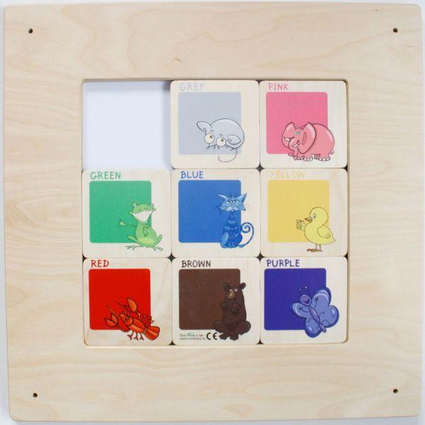 Wandspiel Schiebebild Farben 48x48 cm