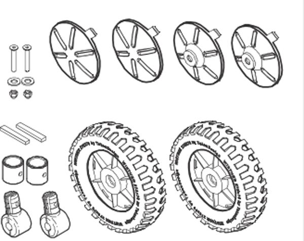 8850759 Vorderrad-Set für FunCart Large 487
