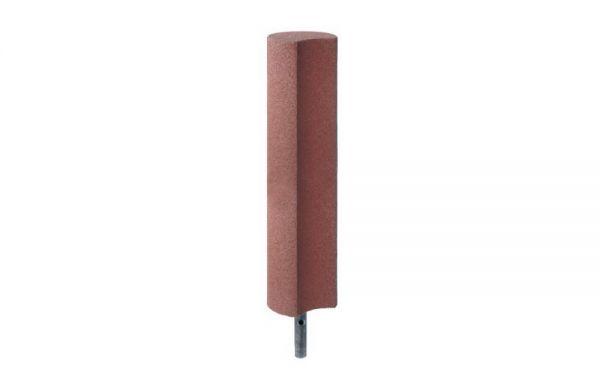 Palisaden aus Gummigranulat 1000mm, Hohlkehle