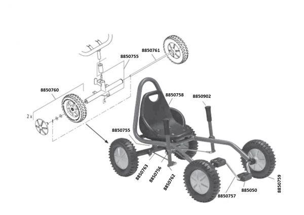 8400487 Ersatzteile für VIKING EXPLORER Fun Cart Large
