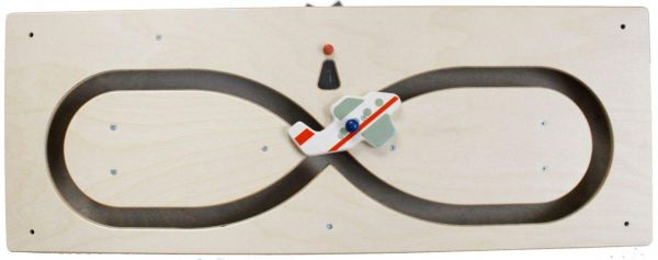 Wandspiel liegende Acht mit Flugzeug 74 x 28 cm