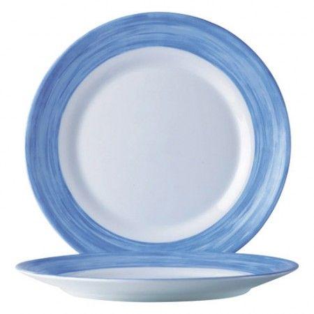 Teller tief 22,5 cm Brush blau Hartglasgeschirr