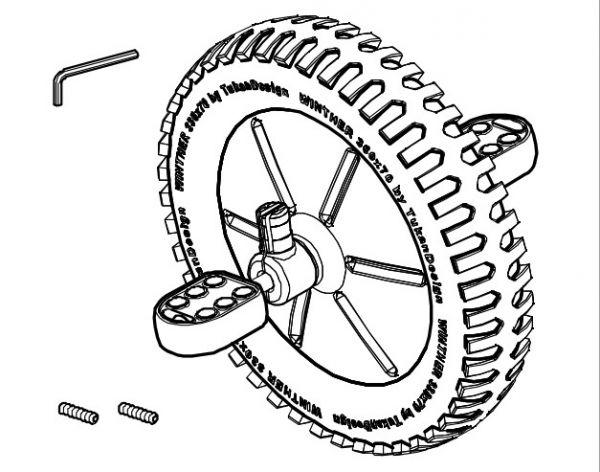 8850747 Vorderrad komplett für BobKart 488