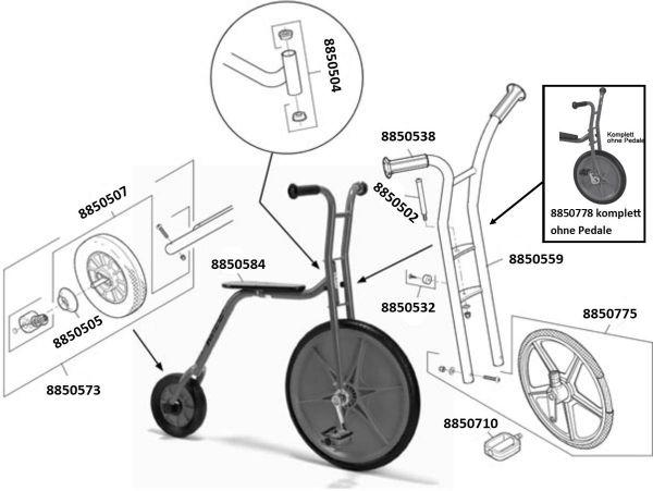 8900481 Ersatzteile für VIKING Explorer Hochrad