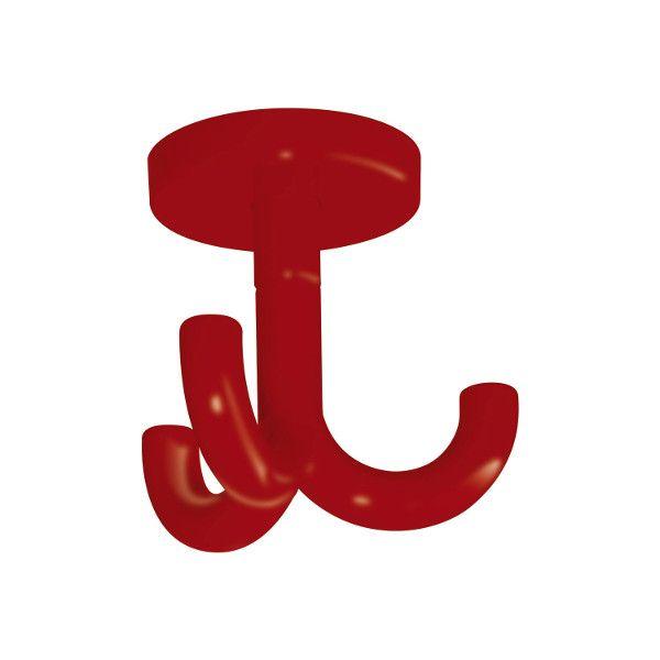 3-fach Haken für Garderobenablagen Farbe: rot rubinrot