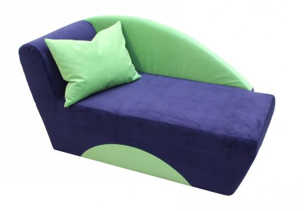 Kindersofa blau/grün, incl. Kissen