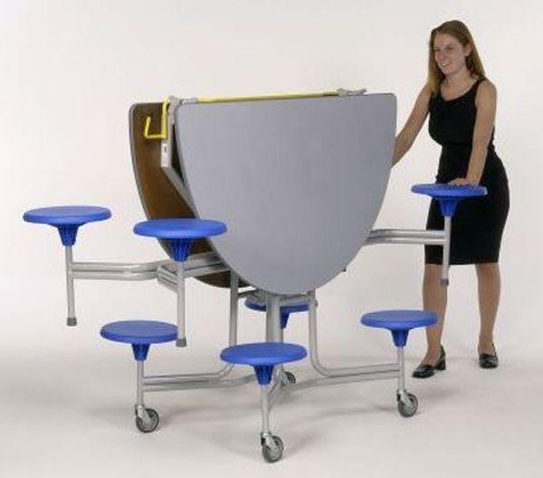 8er-Tisch-Sitz-Komb. rund oval Sico, 36,0cm Sitzhöhe