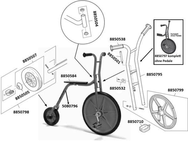 8900482 Ersatzteile für Viking Explorer Hochrad klein