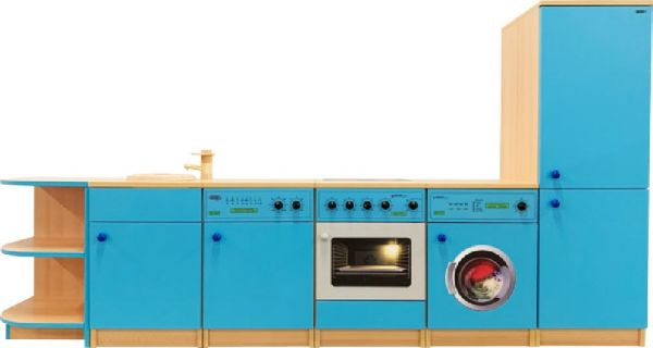 Küchenzeile wie bei den Großen 240 cm Eckrondell links