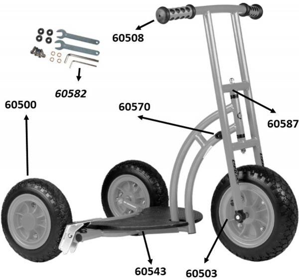 "64000 Ersatzteile für Beleduc Scooter ""Bengy"""