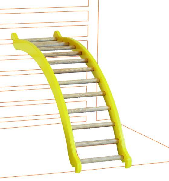 Bogenleiter zum Einhängen Wangen gelb