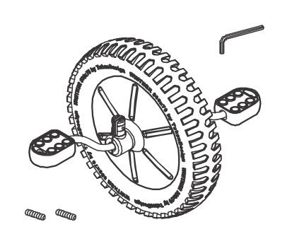 8850751 Vorderrad komplett für OffRoad Mittel 45174