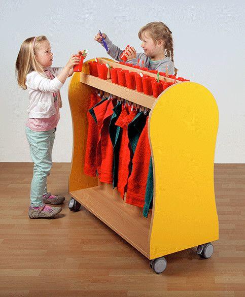 Handtuch- Zahnputzwagen für 16 Kinder