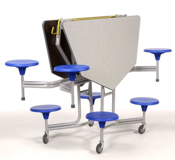 8er-Tisch-Sitz-Kombination hexagonal Sico,38,5cm Sitzhöhe