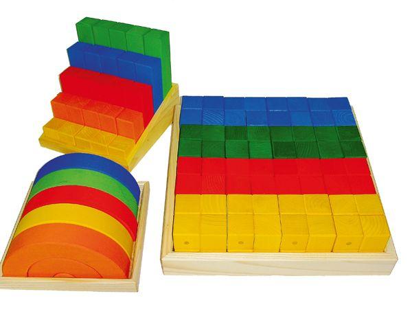 U3 Krippen Holzbau-Set 72tlg. Bauspiel