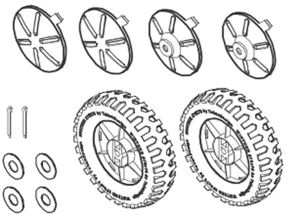 8850760 Hinterrad-Set für FunCart Large 487