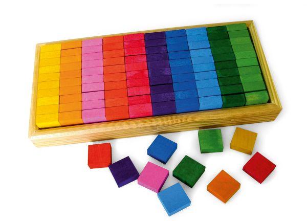 Mosaikplättchen 100 Stück im Holzrahmen Bauspiel