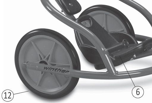 8850792 Hinterrad U-Rider 480 2er-Set