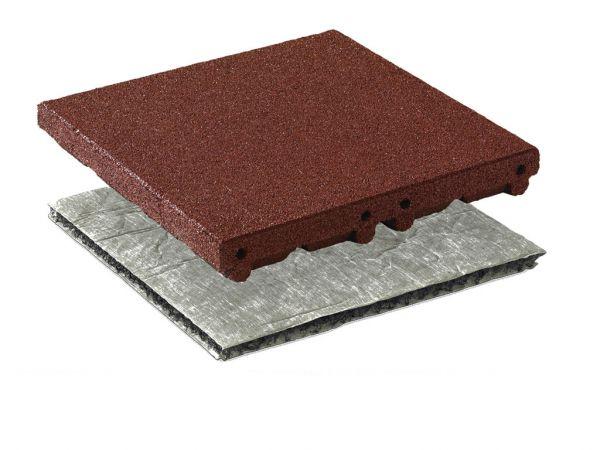 Fallschutzplatten Safe System 65 mm aus Gummigranulat für Fallhöhen bis 300 cm