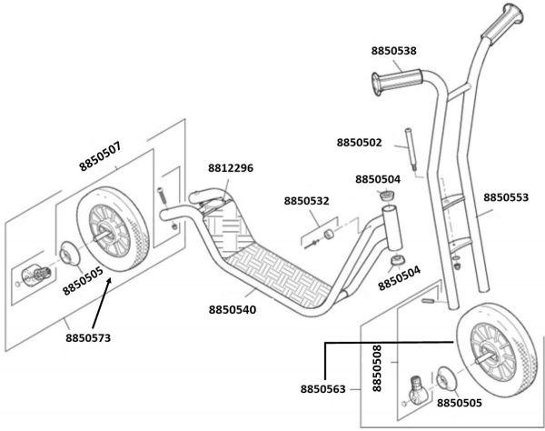 8900460 Ersatzteile für Winther Roller klein