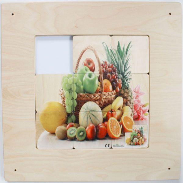 Wandspiel Schiebebild Obstkorb 48x48 cm