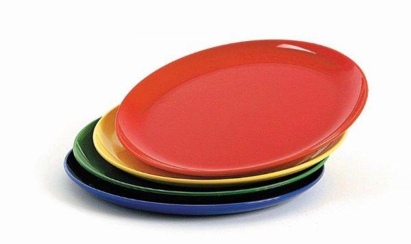 Teller flach, Ø 24 cm Material aus Polycarbonat