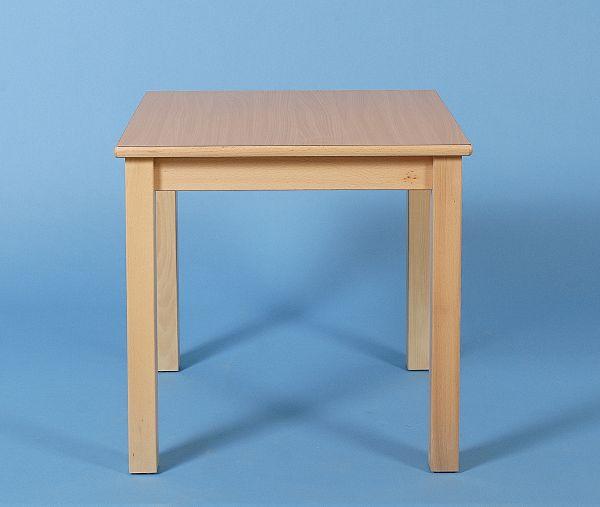 Quadrattisch, 80x80cm, Buche massiv