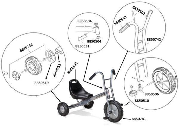 8446974 Ersatzteile für Winther VIKING OFF-ROAD dreirad maxi