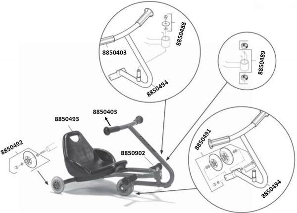 8500622 Ersatzteile für Viking Challence Hand Twister