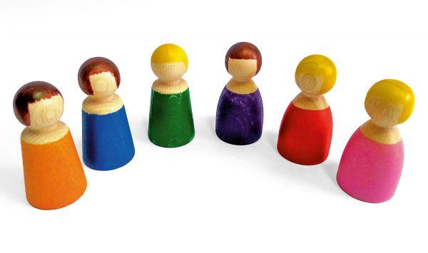 """Holzfiguren-Set """"kleine Menschen"""" Bauspiel"""