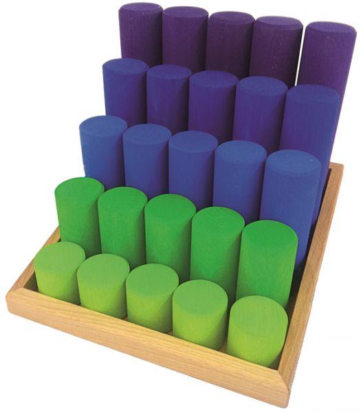 Säulentreppe grün/blau 25tlg. Bauspiel