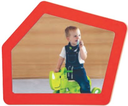 Spiegel kleines 5-Eck B/H:70x70cm