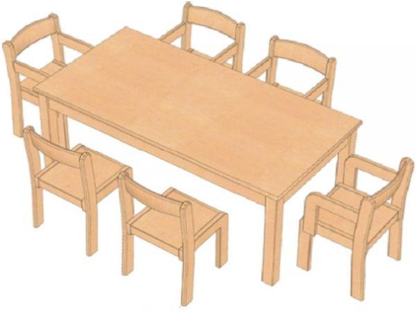 Kombi-Sparset Tisch/Stühle Set 6
