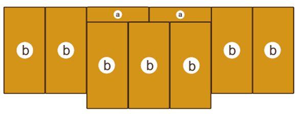 Mattensatz für Turnwand 160511 u. 150002 9tlg