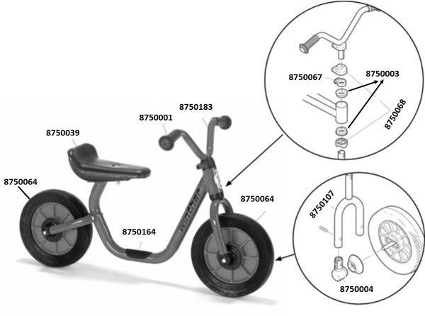 8600412 Ersatzteile für Winther MINI VIKING BikeRunner