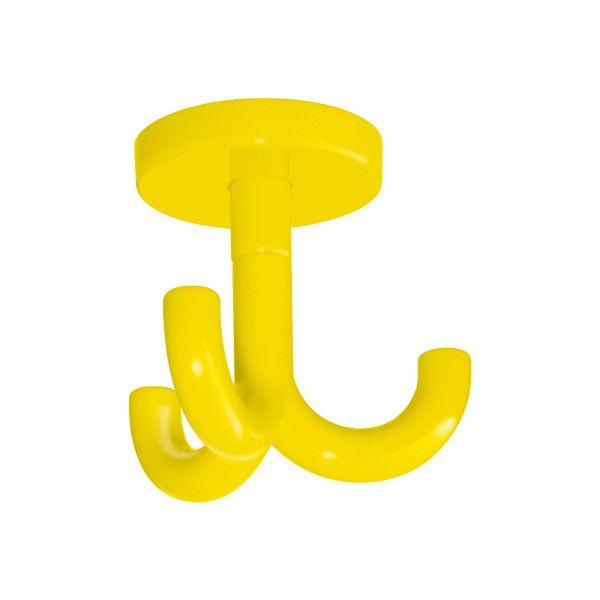 3-fach Haken für Garderobenablagen Farbe: gelb rapsgelb