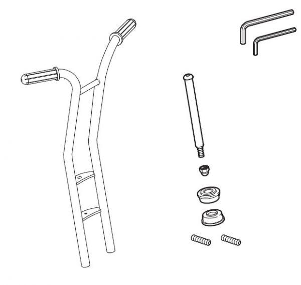 8850543 Vorderradgabel für Winther-Roller Maxi 495