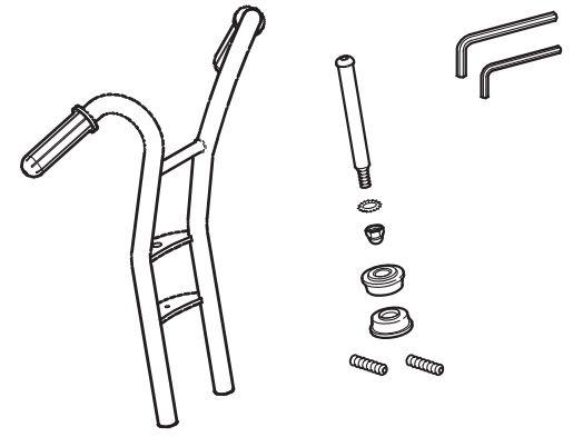 8850555 Vorderradgabel für Winther Dreirad Maxi 469