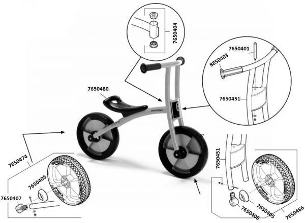 7500559 Ersatzteile für Jakobs BikeRunner aktiv