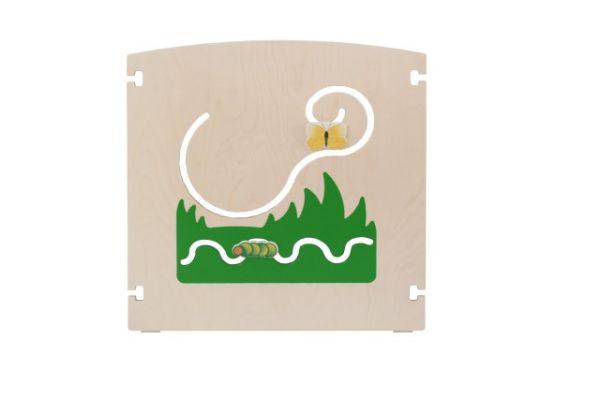 Raumteiler Wiese Raupe/Schmetterling 75x75 cm