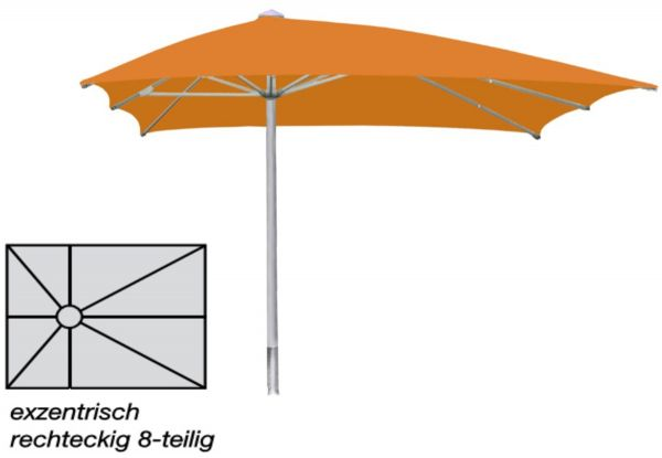"""Sonnenschirm Ro-Flex """"Sombrero Facil"""" exzentro - rechteck/breit exzentrisch"""