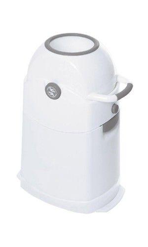 Diaper Champ -Windeleimer, klein, silber Einhandbedienung, Kapazität ca.30 Windeln/ 60L Btl