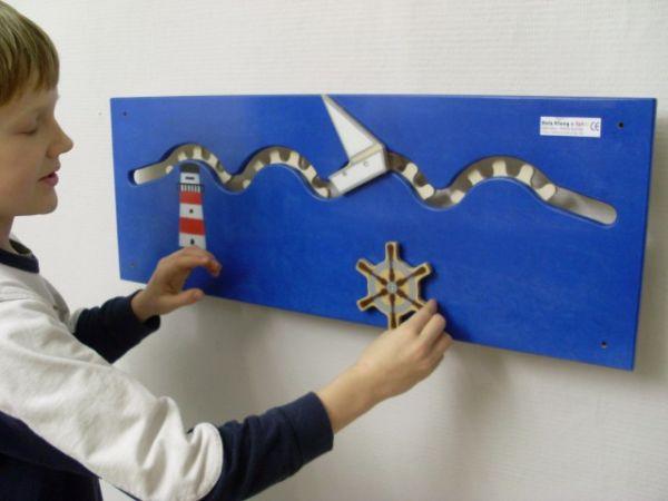 Wandspiel Schiff 74 x 28 cm